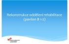 Rekonstrukce vodoléčby a elektroléčby - prezentace